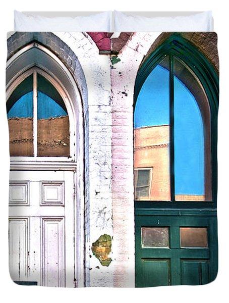 050 - Door One And Door Too Duvet Cover