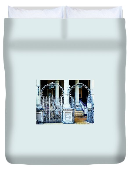 Arched Entrance In Mumbai Duvet Cover by Marion McCristall