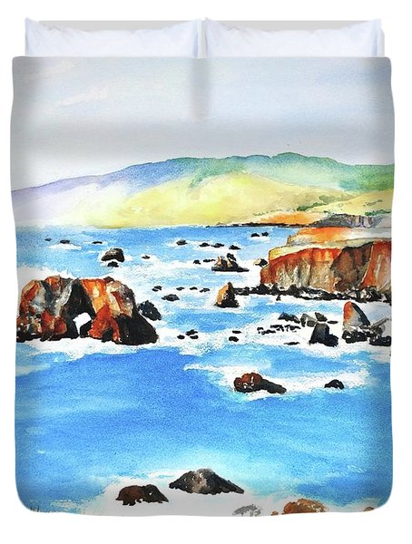 Arched Rock Sonoma Coast California Duvet Cover