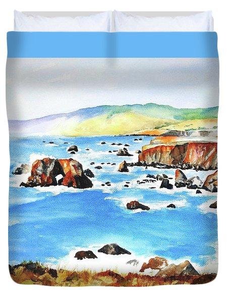 Arched Rock Sonoma Coast California Duvet Cover