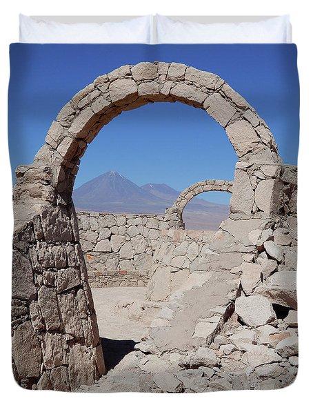 Pukara De Quitor Arches Duvet Cover