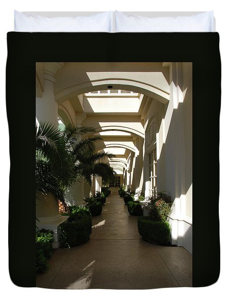 Duvet Cover featuring the photograph Arches by John Schneider