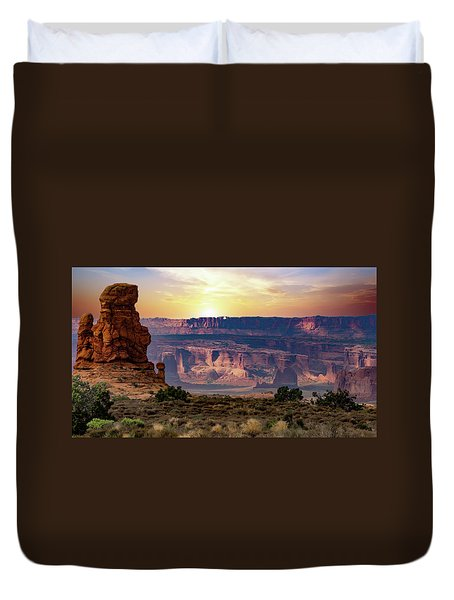 Arches National Park Canyon Duvet Cover