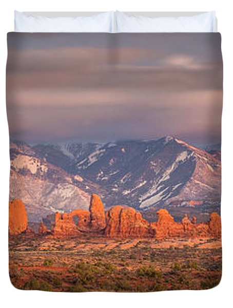 Arches National Park Pano Duvet Cover