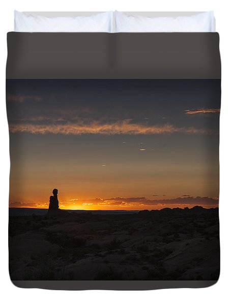 Arches National Park Sunset Duvet Cover