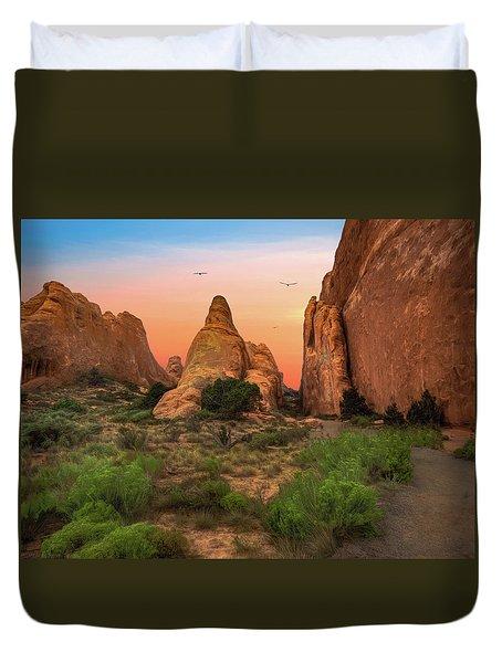 Arches National Park Sunset Duvet Cover