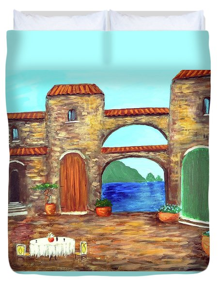 Arches Of Amalfi  Duvet Cover