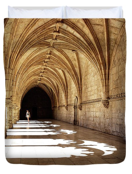 Arches Of Jeronimos Duvet Cover by Marion McCristall