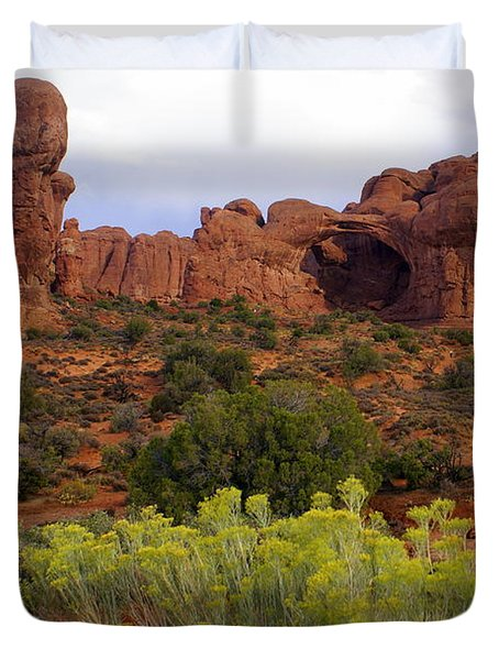 Arches Park 1 Duvet Cover by Marty Koch
