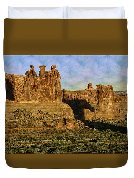 Arches Sunrise Duvet Cover
