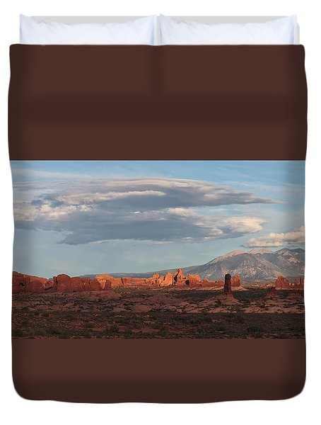 Arches Sunset Panorama Duvet Cover