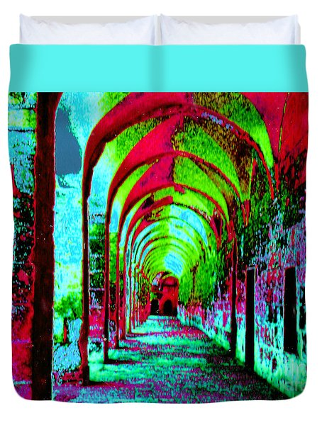 Arches Surreal - Florence Italy Duvet Cover