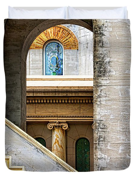 Arches Within Arches Duvet Cover by Christopher Holmes