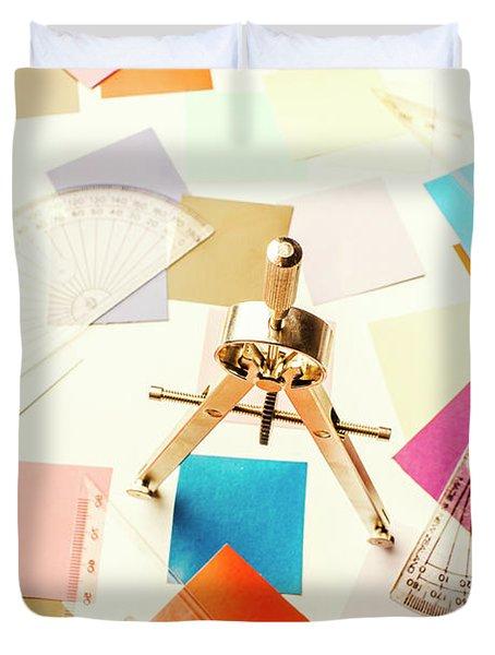 Architects Colour Pallet Duvet Cover