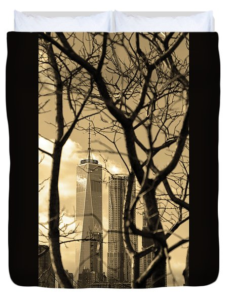 Duvet Cover featuring the photograph Architectural by Mitch Cat
