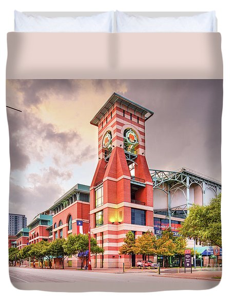 Architectural Photograph Of Minute Maid Park Home Of The Astros - Downtown Houston Texas Duvet Cover
