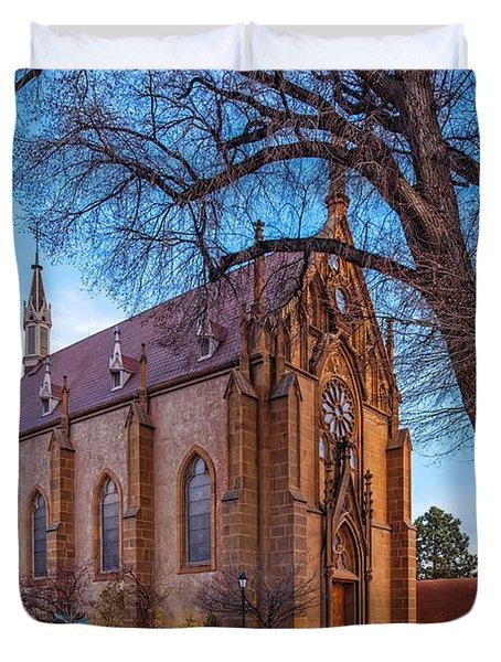 Architectural Photograph Of The Loretto Chapel In Santa Fe New Mexico Duvet Cover
