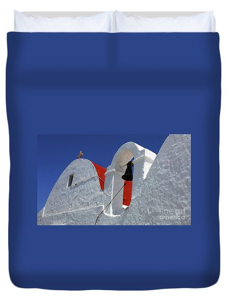 Duvet Cover featuring the photograph Architecture Mykonos Greece by Bob Christopher