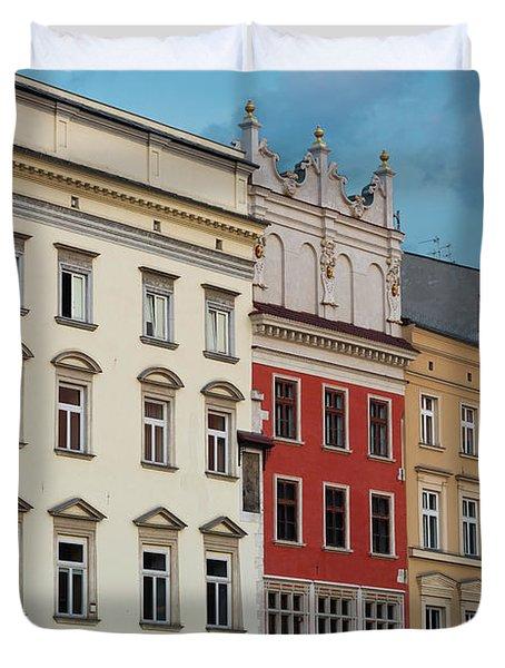 Architecture On Main Square Krakow Poland Duvet Cover