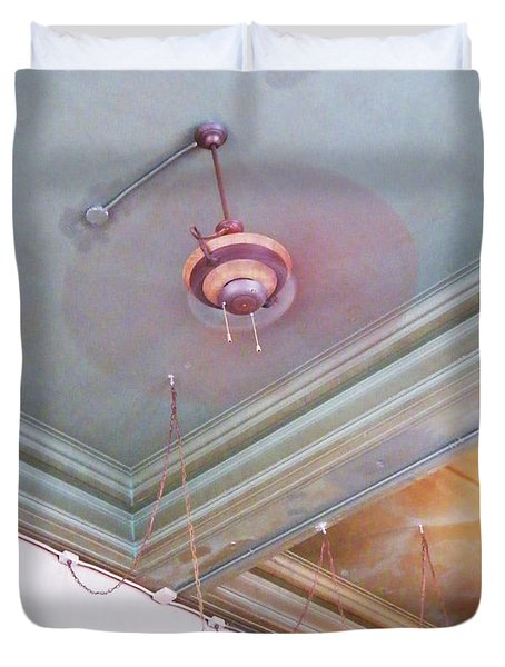 Duvet Cover featuring the photograph Architecture At The Brass Door Memphis by Lizi Beard-Ward