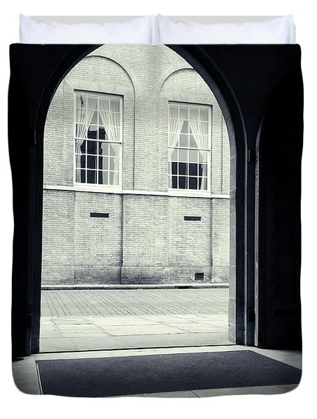 Archway In Black And White Duvet Cover