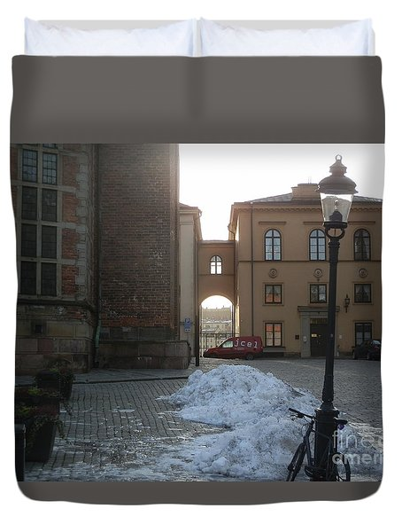 Archway In Stockholm Duvet Cover by Margaret Brooks
