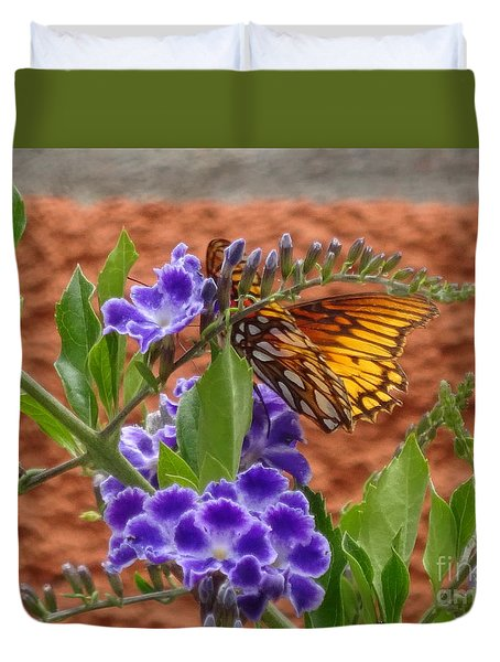 Duvet Cover featuring the photograph Archway In The Garden by Brian Boyle
