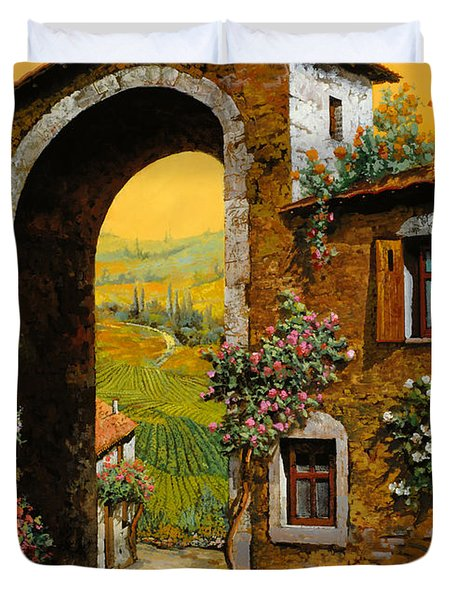 Arco Di Paese Duvet Cover