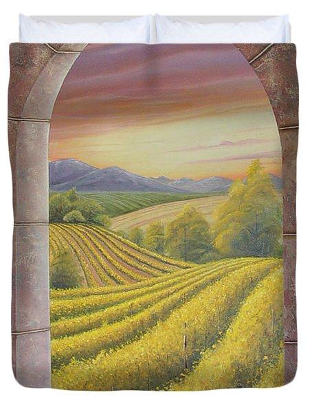 Arco Vinal Duvet Cover by Angel Ortiz