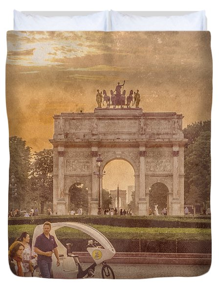 Paris, France - Arcs Duvet Cover