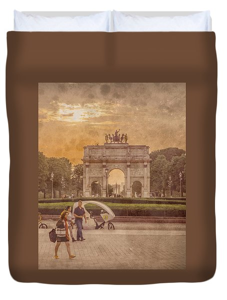 Paris, France - Arcs Duvet Cover