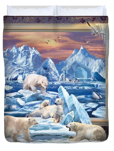 Arctic Bears Coming Duvet Cover