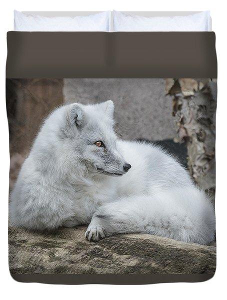 Arctic Fox Profile Duvet Cover