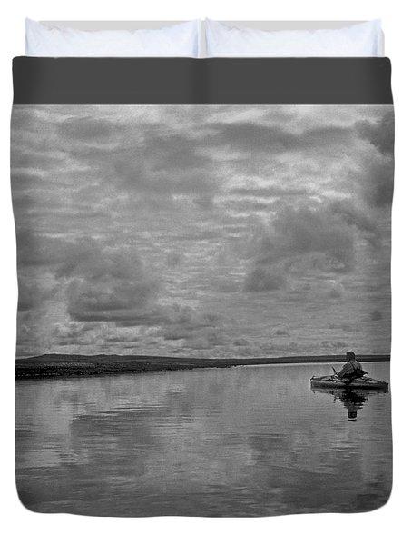 Arctic Kayak Duvet Cover