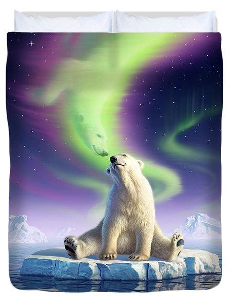 Arctic Kiss Duvet Cover by Jerry LoFaro