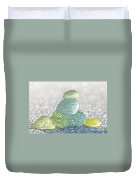 Arctic Spring Sea Glass Duvet Cover