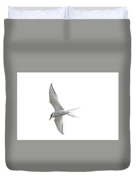Arctic Tern Flying In Mist Duvet Cover