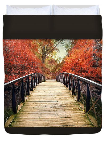 Duvet Cover featuring the photograph Ardent Autumn by Jessica Jenney