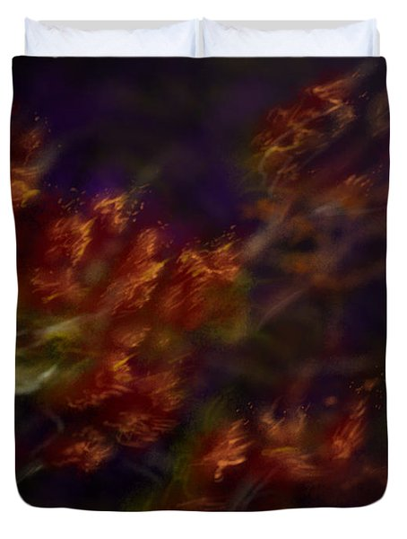 Duvet Cover featuring the digital art Ardor by Amyla Silverflame