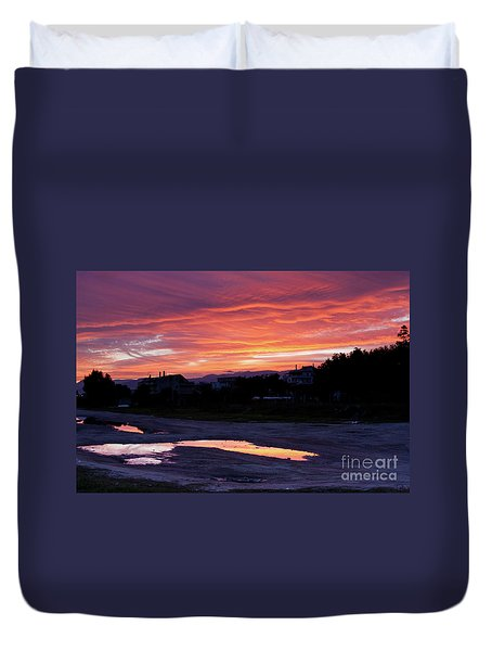 Duvet Cover featuring the photograph Ardore, Calabria Town by Bruno Spagnolo