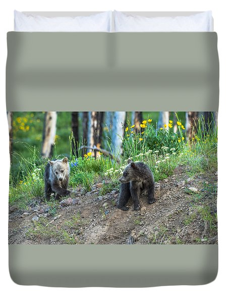 Duvet Cover featuring the photograph Are You Coming With Me by Yeates Photography
