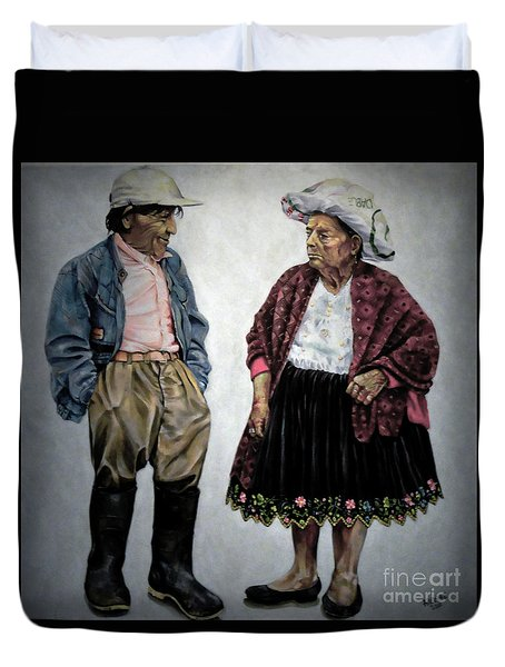 Are You Going To Town Like That? Duvet Cover