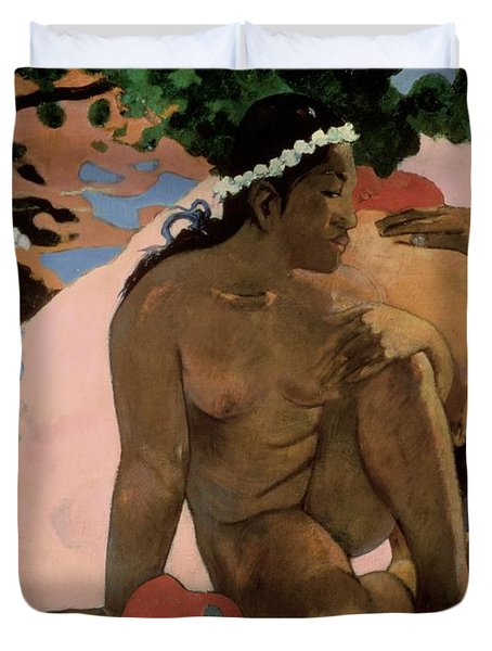 Are You Jealous Duvet Cover by Paul Gauguin