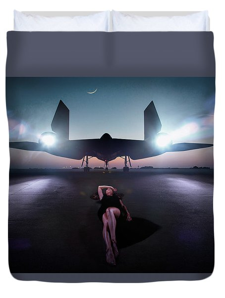 Area 71 Night Fire Duvet Cover