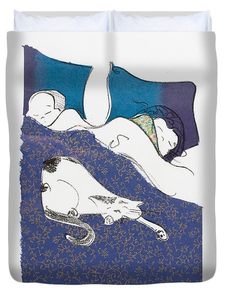 Aren't They Cute When They Are Sleeping Duvet Cover