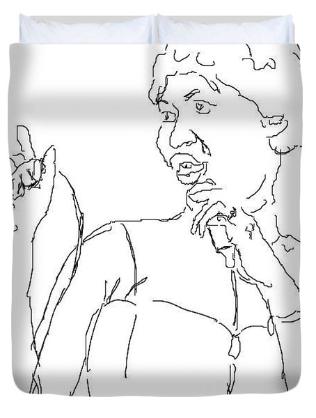 Aretha Duvet Cover by Angela Murray