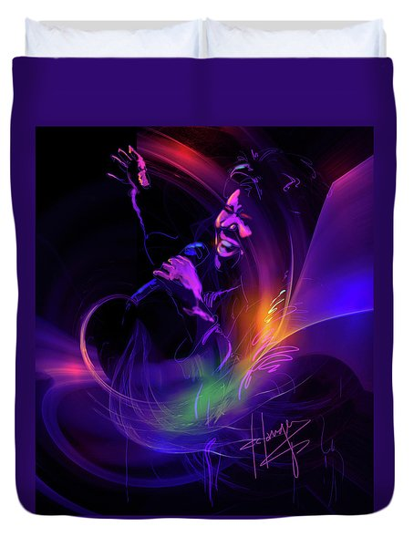 Aretha Franklin, Queen Of Soul Duvet Cover