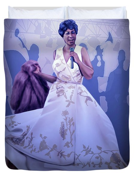 Aretha Franklin Rock Steady Duvet Cover