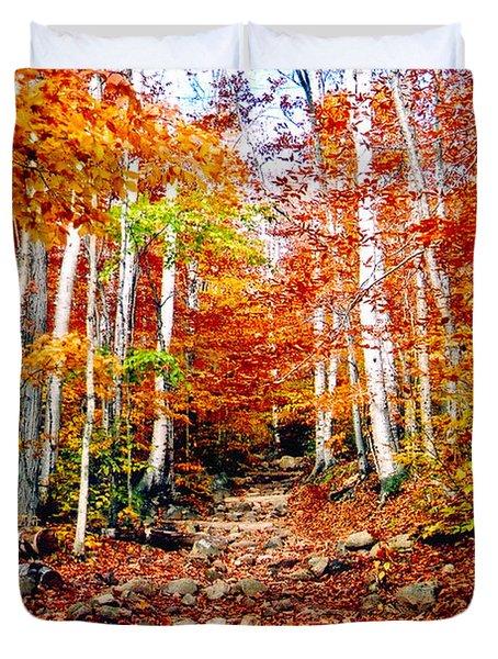 Arethusa Falls Trail Duvet Cover