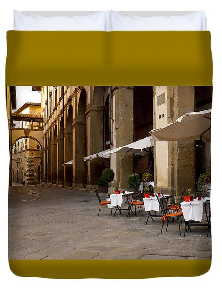 Arezzo Patio Duvet Cover by Rae Tucker